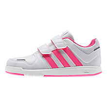 Buy Adidas LK Rip-Tape Trainers, White/Pink Online at johnlewis.com