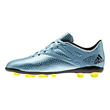 Buy Adidas Messi 15.4 FXG Football Boots, Metallic Blue Online at johnlewis.com