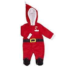 Buy John Lewis Baby's Father Christmas Dress Up Romper, Red Online at johnlewis.com