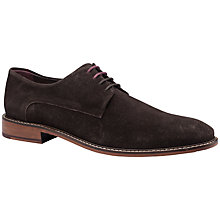 Buy Ted Baker Joehal Plain Suede Derby Shoes, Brown Online at johnlewis.com