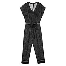 Buy Violeta by Mango Long Printed Jumpsuit, Black Online at johnlewis.com