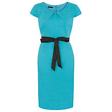 Buy Precis Petite Linen Dress, Aqua Online at johnlewis.com