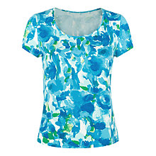 Buy Precis Petite Print Top, Aqua Blue Online at johnlewis.com