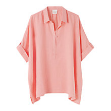 Buy East Handkerchief Hem Shirt, Flamingo Online at johnlewis.com