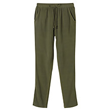 Buy East Tassel Detail Harem Trousers, Khaki Online at johnlewis.com