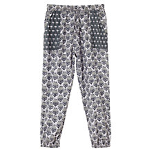 Buy East Cecily Print Trousers, Lavender Online at johnlewis.com