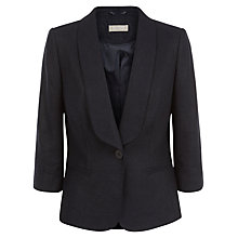 Buy Planet Linen Blend Jacket, Navy Online at johnlewis.com