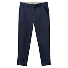 Buy East Smart Ankle Grazer Trousers, Navy Online at johnlewis.com