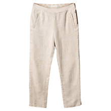 Buy East Linen Cropped Trousers, Stone Online at johnlewis.com