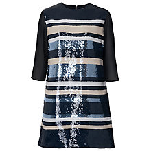 Buy French Connection Fast Summa Sequin Dress, Utility Blue Online at johnlewis.com