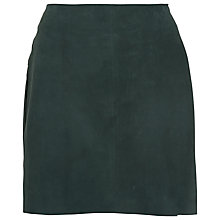 Buy French Connection Sandie Suede Mini Skirt, Faye Green Online at johnlewis.com