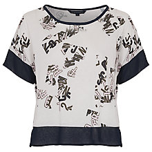 Buy French Connection Scatter Cropped T-Shirt, White Multi Online at johnlewis.com