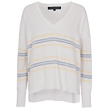 Buy French Connection Stephanie Striped Jumper, White Online at johnlewis.com