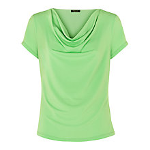 Buy Precis Petite Cowl Neck Top, Green Online at johnlewis.com