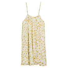 Buy Mango Printed Chiffon Dress, Natural White Online at johnlewis.com