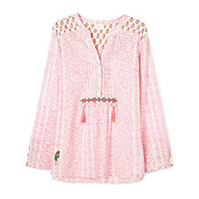 Buy East Flamingo Ikat Print Tunic Dress, White/Flamingo Online at johnlewis.com