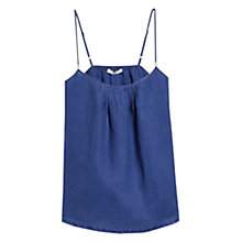 Buy Mango Linen Camisole Top, Medium Blue Online at johnlewis.com