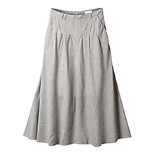 Buy East Long Stripe Flared Skirt, Navy Online at johnlewis.com