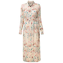 Buy East Song Bird Long Shirt Dress, Ivory Online at johnlewis.com