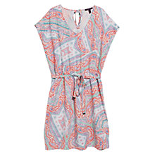 Buy Violeta by Mango Flowy Print Dress, Light Pastel Orange Online at johnlewis.com