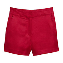 Buy Mango Linen-Blend Bermuda Shorts, Medium Red Online at johnlewis.com