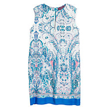 Buy Violeta by Mango Paisley Print Dress, Medium Blue Online at johnlewis.com