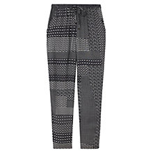 Buy East Geo Print Harem Trousers, Navy Online at johnlewis.com