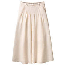 Buy East Long Stripe Flare Skirt, Stone Online at johnlewis.com