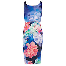 Buy Coast Dominique Print Dress, Blue / Multi Online at johnlewis.com