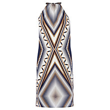 Buy Warehouse Halterneck Zig Zag Dress, Multi Online at johnlewis.com