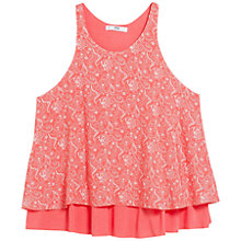 Buy Mango Printed Top, Bright Red Online at johnlewis.com