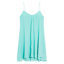 Buy Mango Flowy Dress, Aqua Online at johnlewis.com