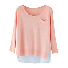 Buy Wrap London Jessie Linen Jumper, Peach Pink Online at johnlewis.com