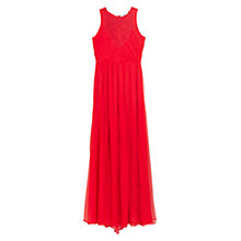 Buy Mango Long Pleated Dress, Bright Red Online at johnlewis.com
