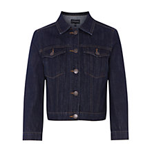 Buy Warehouse Denim Cropped Jacket, Indigo Online at johnlewis.com