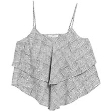 Buy Mango Printed Double Layer Camisole, Natural White Online at johnlewis.com