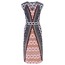 Buy Warehouse Aztec Midi Dress, Multi Online at johnlewis.com