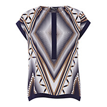 Buy Warehouse Boxy Zig Zag Top, Multi Online at johnlewis.com