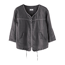 Buy Wrap London Gigi Linen Jacket, Charcoal Online at johnlewis.com