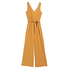 Buy Mango Belted Long Jumpsuit, Medium Yellow Online at johnlewis.com