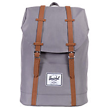 Buy Herschel Supply Co. Retreat Backpack, Grey/Tan Online at johnlewis.com