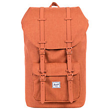 Buy Herschel Supply Co. Little America Backpack, Burnt Orange Crosshatch Rubber Online at johnlewis.com