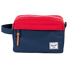 Buy Herschel Supply Co. Chapter Wash Bag, Navy/Red Online at johnlewis.com