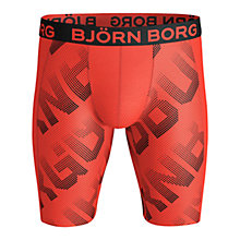 Buy Bjorn Borg Spot Logo Long Trunks, Cherry Tomato Online at johnlewis.com
