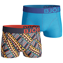 Buy Bjorn Borg Cotton Trunks, Pack of 2, Maasai/Peacoat Blue Online at johnlewis.com