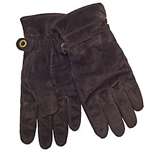 Buy John Lewis Pull Cord Suede Gloves, Brown Online at johnlewis.com