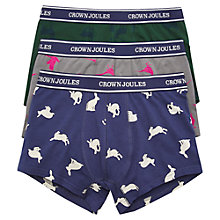 Buy Joules Crown Joules Game On Cotton Trunks, Pack of 3, Multi-coloured Online at johnlewis.com