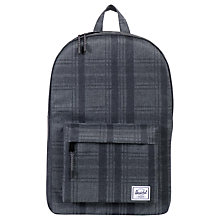Buy Herschel Supply Co. Classic Backpack, Plaid Grey Online at johnlewis.com
