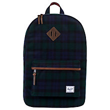 Buy Herschel Supply Co. Heritage Backpack, Black Watch Plaid Online at johnlewis.com
