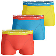Buy Bjorn Borg Basic Seasonal Trunks, Pack of 3, Red/Blue/Yellow Online at johnlewis.com